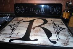 Initial Stove Top Cover Signsfordesign.com