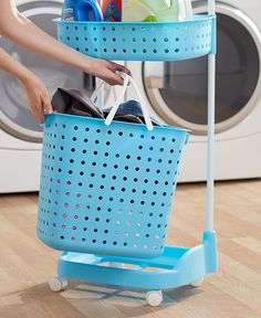 This Rolling Multipurpose Laundry Cart is your solution for organizing your laundry room or bathroom. Store soap, dryer sheets and more on the 2 top shelves.&nb