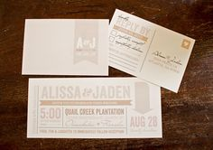 Wedding Invitation Vintage Modern Whimsical // by designsbyXO