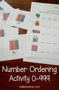 Practice number ordering with this fun hands-on activity!