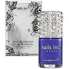 nails inc LONDON Crystal Colour BAKER STREET - cobalt blue, .33 oz NEW IN A BOX FULL SIZE by nails inc LONDON