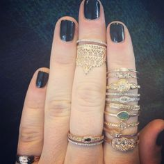 My dream ring collection ... All @Catbird ... obviously