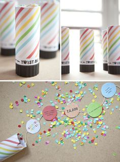 confetti popper invitations from Oh Happy Day! We are using this exact tutorial . - confetti popper invitations from Oh Happy Day! We are using this exact tutorial for the invitations - Confetti Poppers, Diy Confetti, Party Poppers, Creative Wedding Invitations, Christmas Party Invitations, Diy Invitations, Polka Dot Party, Easy Arts And Crafts, Sweet 16 Parties