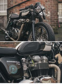 2004 Triumph Bonneville T100 from our blogger  friend David Perkins.