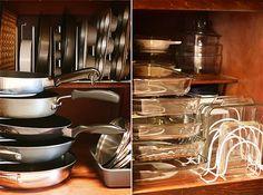 organize pots and pans
