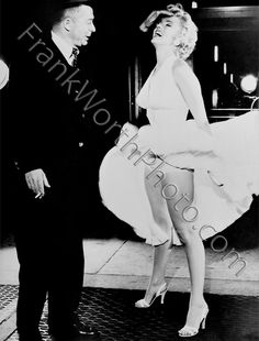 Billy Wilder and Marilyn Monroe Set of The Seven Year Itch 1955