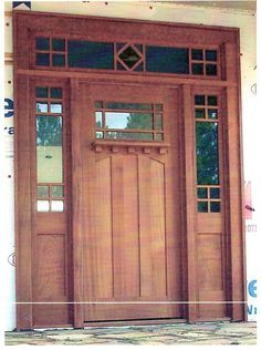 This is a craftsman style door I constructed out of Sapele an African Hardwood.