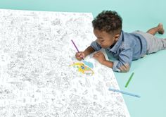 Des #coloriages géants fantastiques qui vont régaler les #enfants ! Des posters à colorier déments !