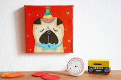 Happy Pug Day by milanesa on Etsy, $11.00