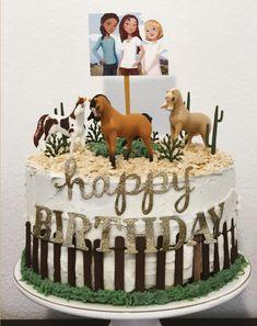 Spirit Cake - Riding Free - Lucky Horse Birthday Parties, Cowgirl Birthday, Birthday Cake Girls, Third Birthday, Horse Cake, Horse Party, First Birthdays, Paris Cakes, Castle Cakes