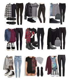"""Affordable School Outfits"" by fivesecondsofinspiration ❤ liked on Polyvore featuring Forever 21, H&M, Converse, Vans, Monki, Brandy Melville, River Island, Floyd, ASOS and Duffer Of St George"