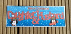 Daughter & Husband Christmas Card by TheBlenheimCardCo on Etsy
