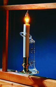 Holiday Joy - 6 Deluxe Electric Window Candle Lamp Holders - Secure Flameless Candles with World's Strongest Suction Cups - Made in USA Battery Candles, Flameless Candles, Christmas Window Decorations, Christmas Candles, Candle Lamp, Candle Sconces, Electric Window Candles, Candle Holders, Wall Lights
