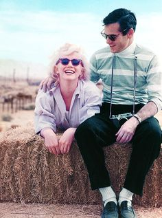 Marilyn Monroe and Milton Greene, 1954.