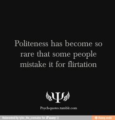 Flirt vs Polite