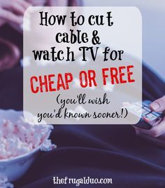 Are you looking to cut your cable and watch TV for a much cheaper rate or even FREE?! Here is a great list of cable alternatives that will save your tons of money every month! #cablealternatives #freetv #cutthecablecord