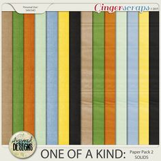 ONE OF A KIND: Solids