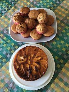 Tarta de manzana y muffins de chocolate y de caramelo Cookies, Chocolate, Desserts, Food, Candy, Sweets, Apple Cakes, Pies, Crack Crackers