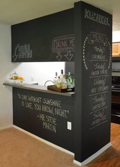 Small Space Home Bar for space crunched homes!