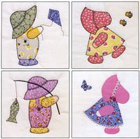 Free Sunbonnet Sue Quilt Pattern | 10-20% Off Sunbonnet Sue Visits Quilt in a Day by Eleanor Burns w ...