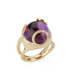 18ct. Amethyst and Diamond Ring from the Bubble Collection - Ariane Rocher Jewellery  ~The ring to match the earrings - love it