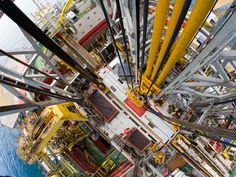 Cairn Energy's Stena Don, aerial views of rig floor, a semi-submersible and dynamically positioned fifth generation drilling rig, has been c...
