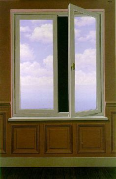 """The Looking Glass (La Lunette d'approche),"" Rene Magritte (1963) Also incorrectly called ""The Field Glass"" or ""The Telescope"" this painting shows the opening between the mirror that Alice travelled through. Through the Looking-Glass..."