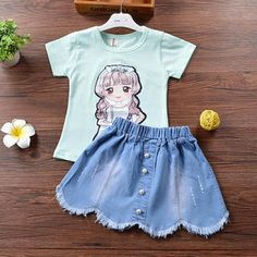 Cute Pattern Girls Two Pieces Set Two Piece Sets, Two Pieces, Korean Fashion Street Casual, Cute Pattern, Rompers, Street Style, Girls, Dresses, Toddler Girls