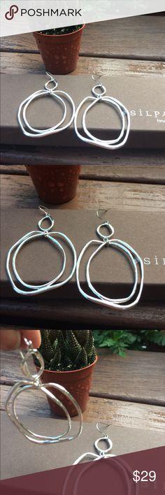 Silpada sterling silver earrings Flirty sterling silver earrings.  New.  Never worn.   2 1/2 inches Silpada Jewelry Earrings