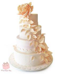 Giant Rose Wedding Cake | http://blog.pinkcakebox.com/giant-rose-wedding-cake-2014-10-19.htm