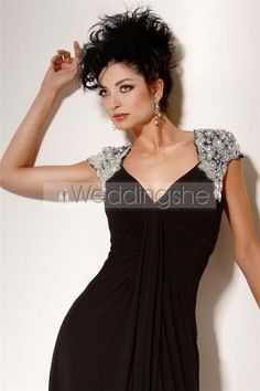 Graceful Beaded A-Line Sweetheart Neckline Floor-Length Mother of the Bride Dressess : Weddingshe.com