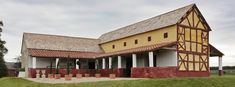 A recreated Roman town house at Wroxeter Roman City, Shropshire