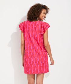 Shop Embroidered Palm Vineyard Tunic Dress at vineyard vines Double Ruffle, Vineyard Vines, Palm, Short Sleeve Dresses, Tunic, Summer Dresses, Shop, Women, Fashion