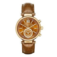 1db4e03f27b8 Michael Kors Womens Sawyer Brown Watch MK2424     Read more at the image  link