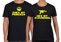 Matching Star Wars Shes My princess and Hes My by 503made on Etsy