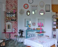 {all the luck in the world} cute Amsterdam shop! = display ideas for home.