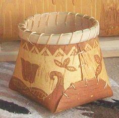 Barry Dana birch bark basket