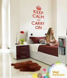 Keep Calm Vinyl Wall Stickers by Vinylimpression on Etsy