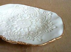 Ceramic Lace handmade pottery Bowl von dgordon auf Etsy, $18.00