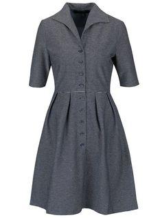 Modré pruhované prepínacie šaty Fever London Nora
