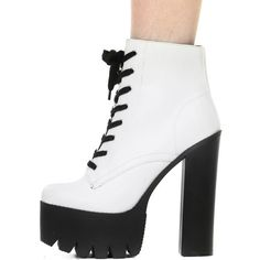 WHITE IGGY BOOTS at Shop Jeen | SHOP JEEN ($68) ❤ liked on Polyvore