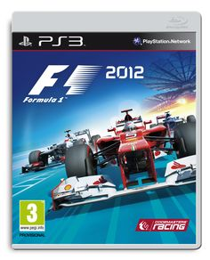 Official PS3 packshot of F1 2012, featuring Ferrari, Sauber, and Toro Rosso.