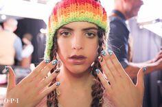 OPI rainbow nails