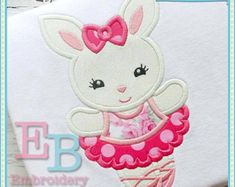 Lamb with Bow Applique This design is to by EmbroideryBoutique2