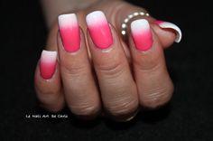Essie Blanc, Kiko Coral Pink 282 #essie #essienails #kiko #kikonails #gradient #gradientnails #nail #nailart #nailstagram #naildesign #nailpolish #nailartaddict #instanails #tieanddyenails #lakkamafia #npa #pinknails #polishaddict #notd #thenailartstory #nails2inspire #pinterestnails #pinterest