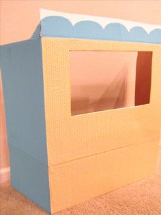 This DIY puppet theater is an inexpensive project using things you likely already have at home. Learn how to make a puppet theater out of a cardboard box.