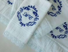kit toalhas bordadas Elis