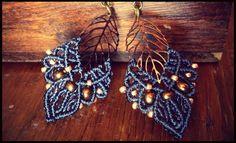 Macramé earrings por HannaMacrame en Etsy