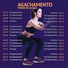 Agachamento - Treino de 30 Dias - Real Time - Diet, Exercise, Fitness, Finance You for Healthy articles ideas Fitness Diet, Yoga Fitness, Fitness Motivation, Health Fitness, Fitness Exercises, Dieta Fitness, Squats Fitness, Enjoy Fitness, Fitness Memes