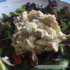 This is a nice simple chicken salad that can be made with so many different substitutions. If you aren't a fan of dried cranberries you can use other fruits like, raisins, chopped apples or sliced grapes. The pecans can be substituted with sliced almonds, or chopped walnuts. I like the texture and flavors of this …